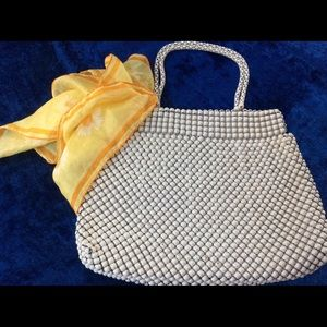 Handbags - Vintage 1940 Whiting Davis Metal Mesh Handbag